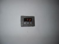 Display regulace ukazuje pozvolný náběh na provozní teplotu.